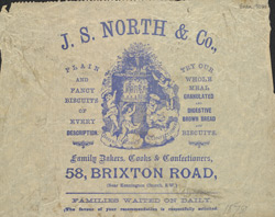 Advert For J.S. North, Baker